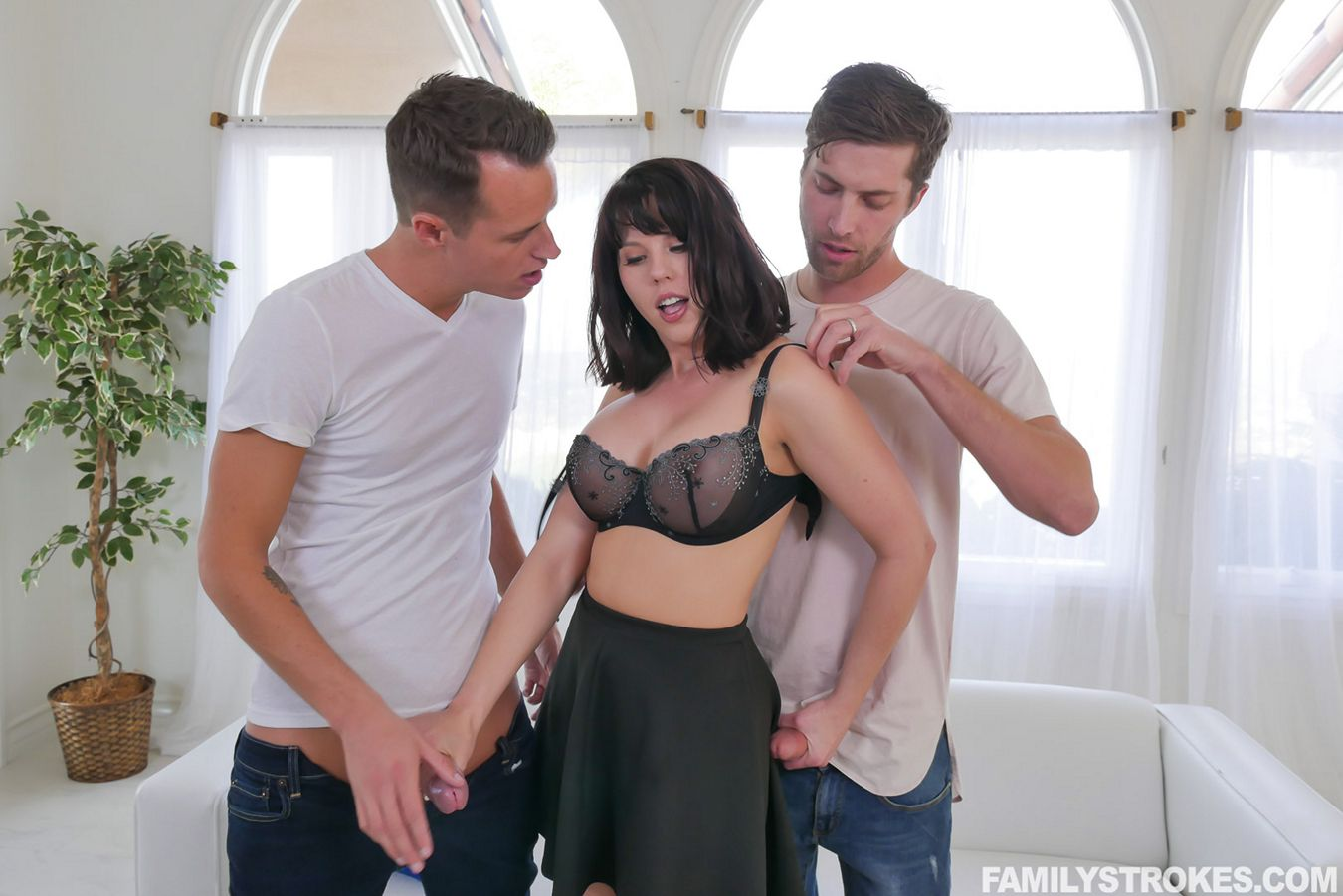 """Forgetful Stepsis Lands In Double Trouble"" in family incest video!"